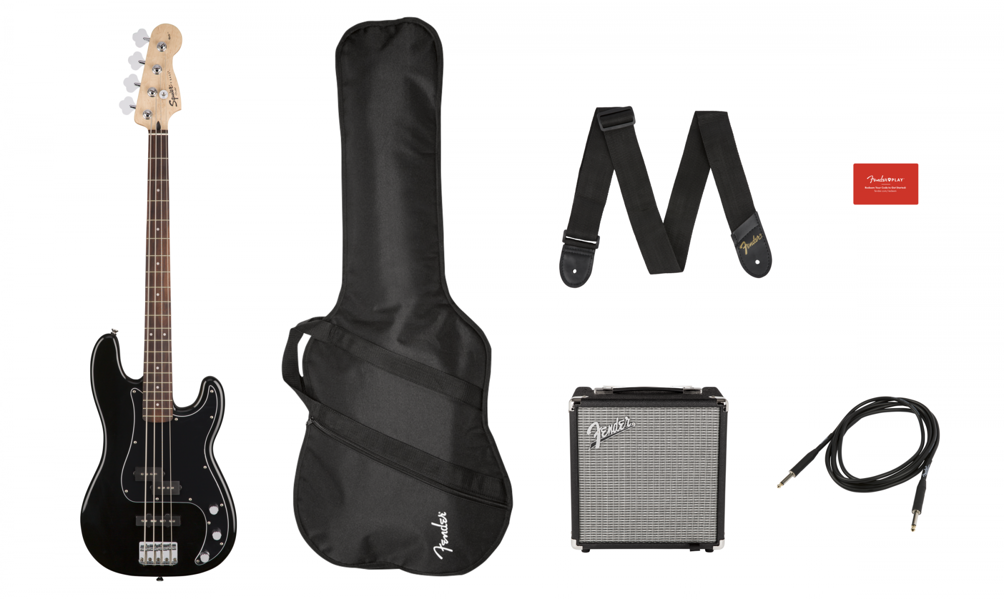 Squier Affinity Series Precision Bass PJ Pack, Laurel Fingerboard, Black