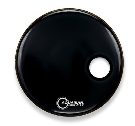 Aquarian Regulator Small Hole,  22 Bass Drum Head, Black