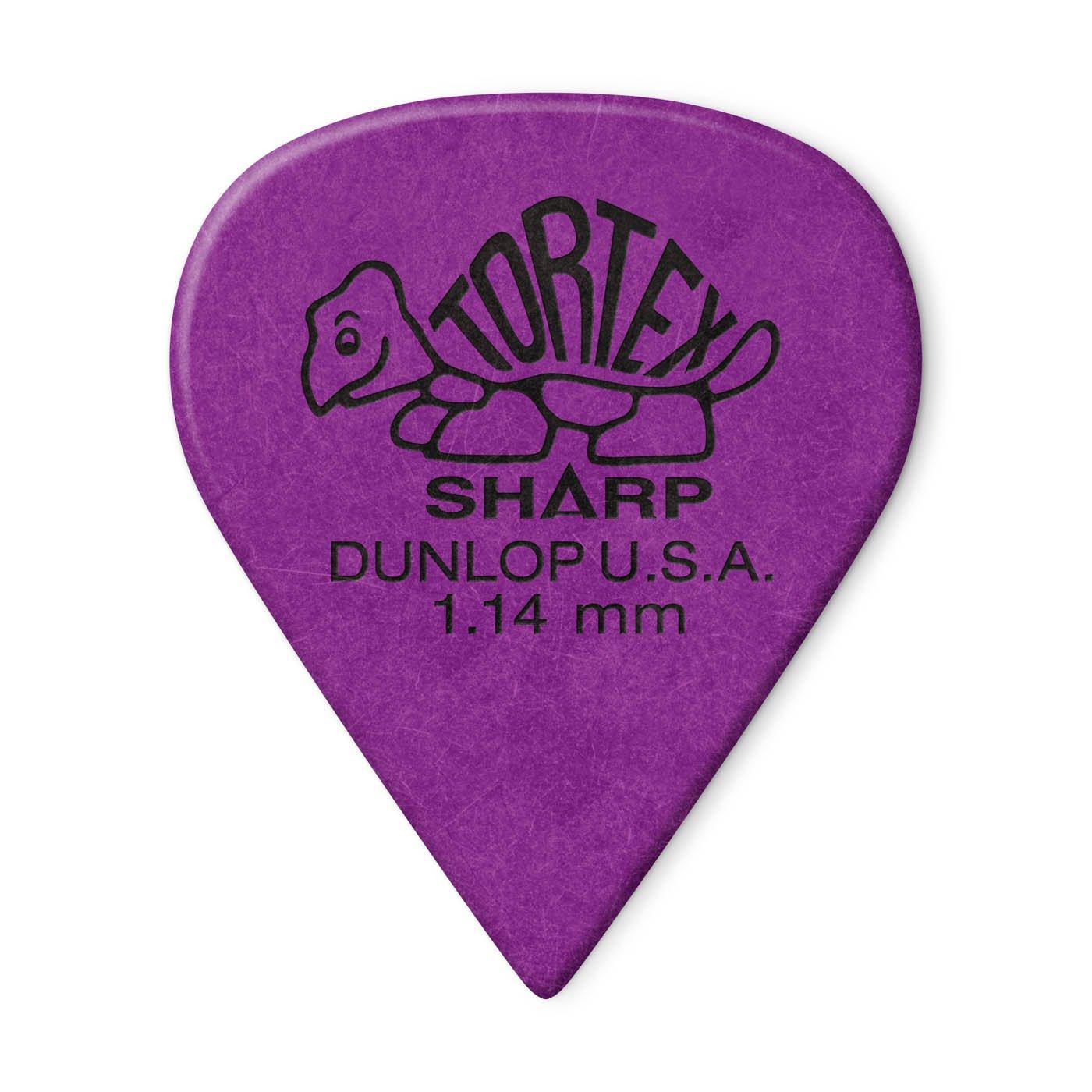 Dunlop 412P1.14  Tortex Sharp Guitar Picks, 1.14mm 12ct