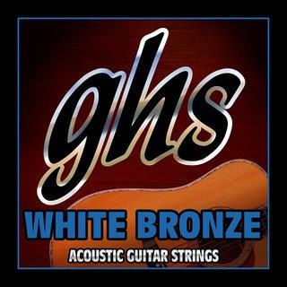 GHS WB-L White Bronze Acoustic Strings, Light, 12-54