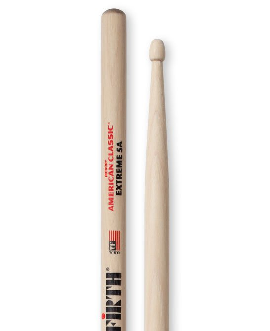 Vic Firth X5A Extreme 5A American Classic Hickory Wood Tip Drum Sticks
