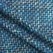 Haute couture Italian tweed boucle in blue/multi