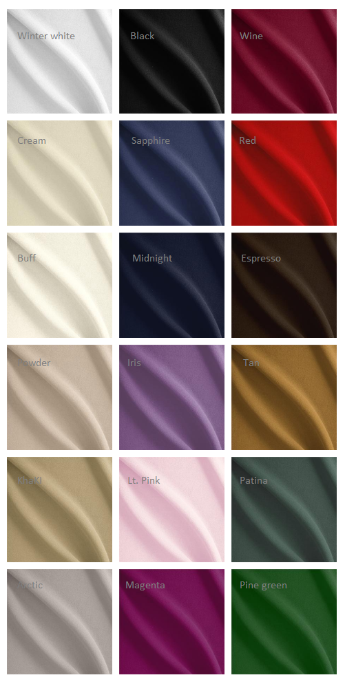 Wool crepe type 1 availability as of DEC2019