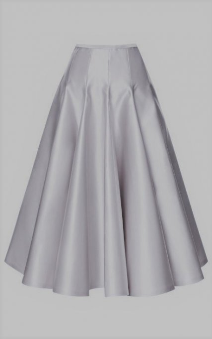 white satin gored skirt inspiration