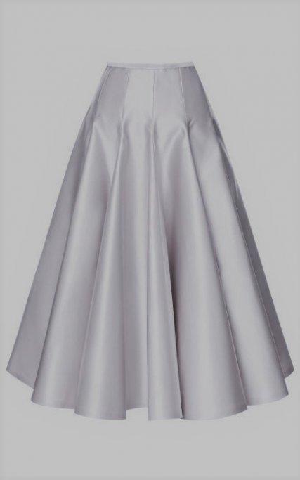 white satin gored skirt inspiration