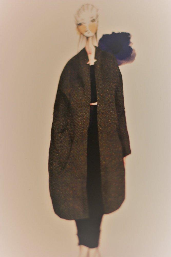 wool tweed coat sketch