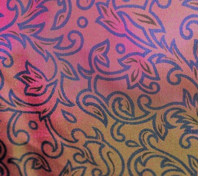 Iridescent silk print pongee