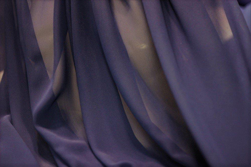 Pure silk chiffon, cobalt blue