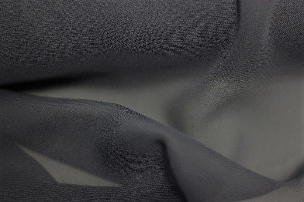 Pure silk chiffon, graphite