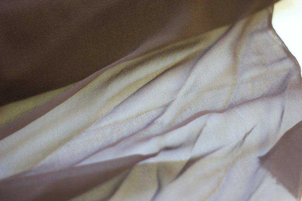 Pure silk chiffon, espresso brown