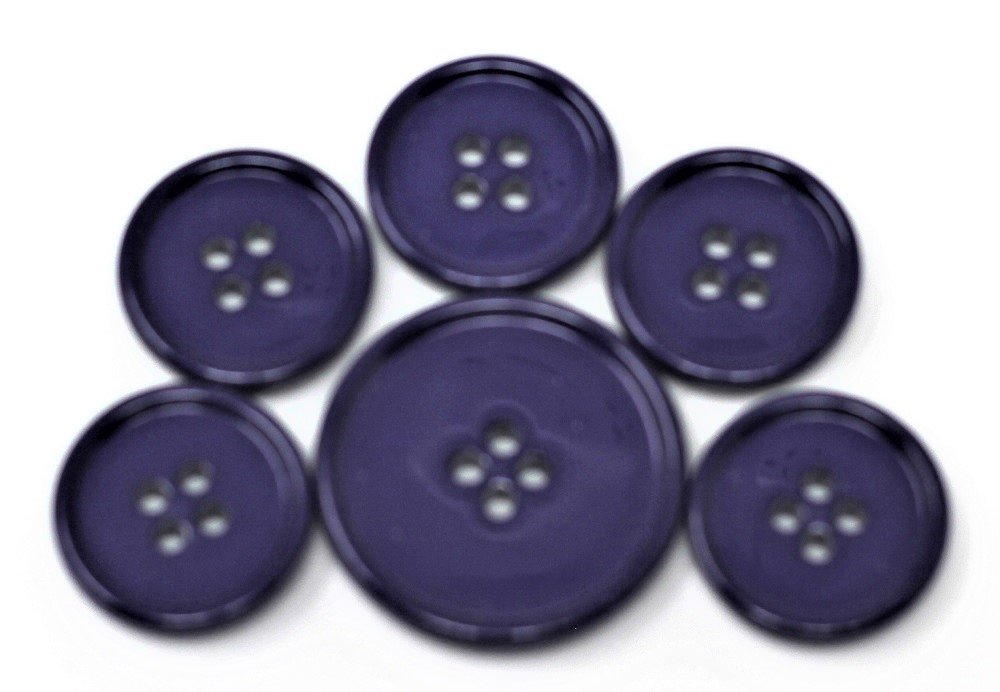 Italian casein buttons, plum purple