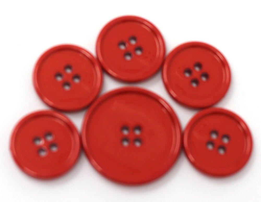 Italian casein buttons, tangerine orange