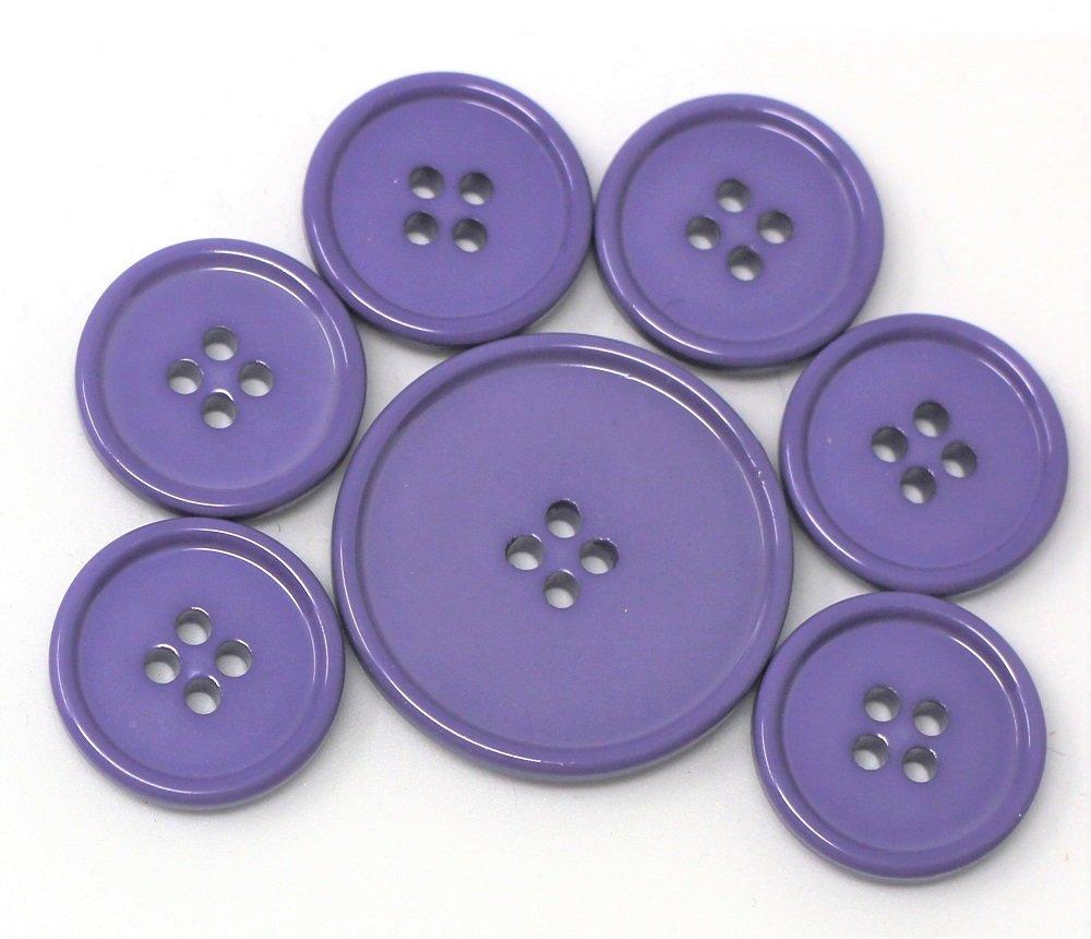 Italian casein buttons, violet
