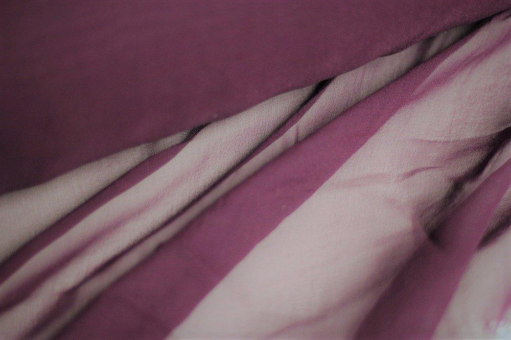 Pure silk chiffon, plum