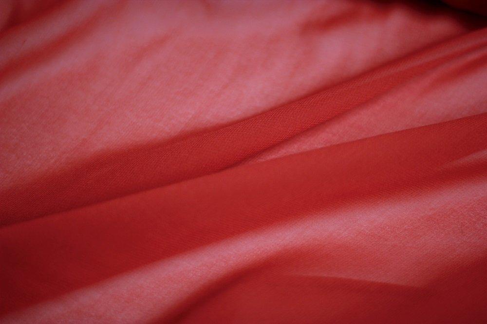 Pure silk chiffon, candy red