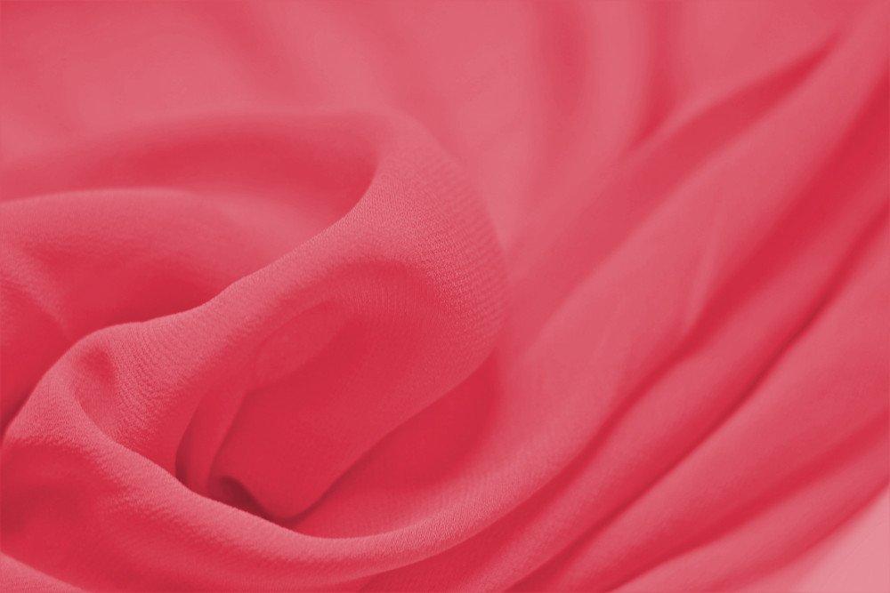 Pure silk chiffon, coral