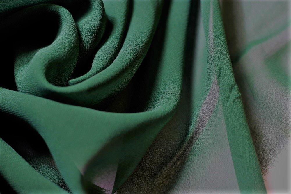 Pure silk chiffon, evergreen