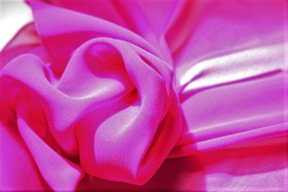 Pure silk chiffon, fuschia