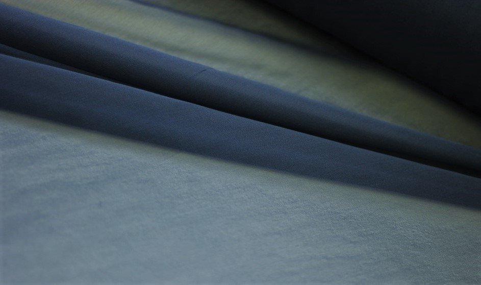 Pure silk chiffon, petrol blue