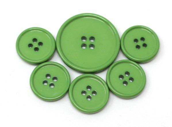 Italian casein buttons, kiwi green