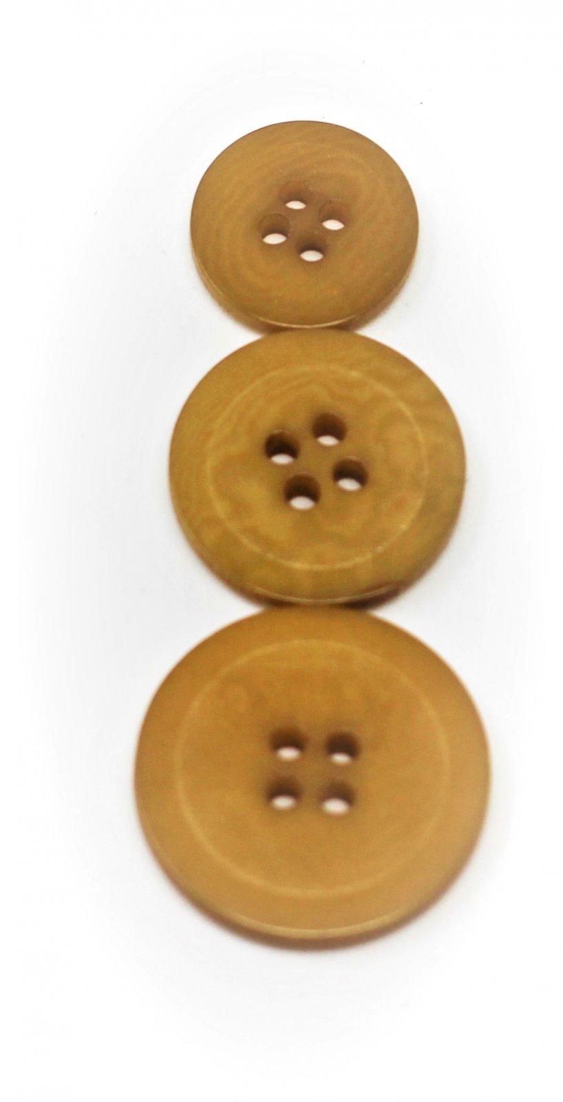 Italian tagua buttons, mustard