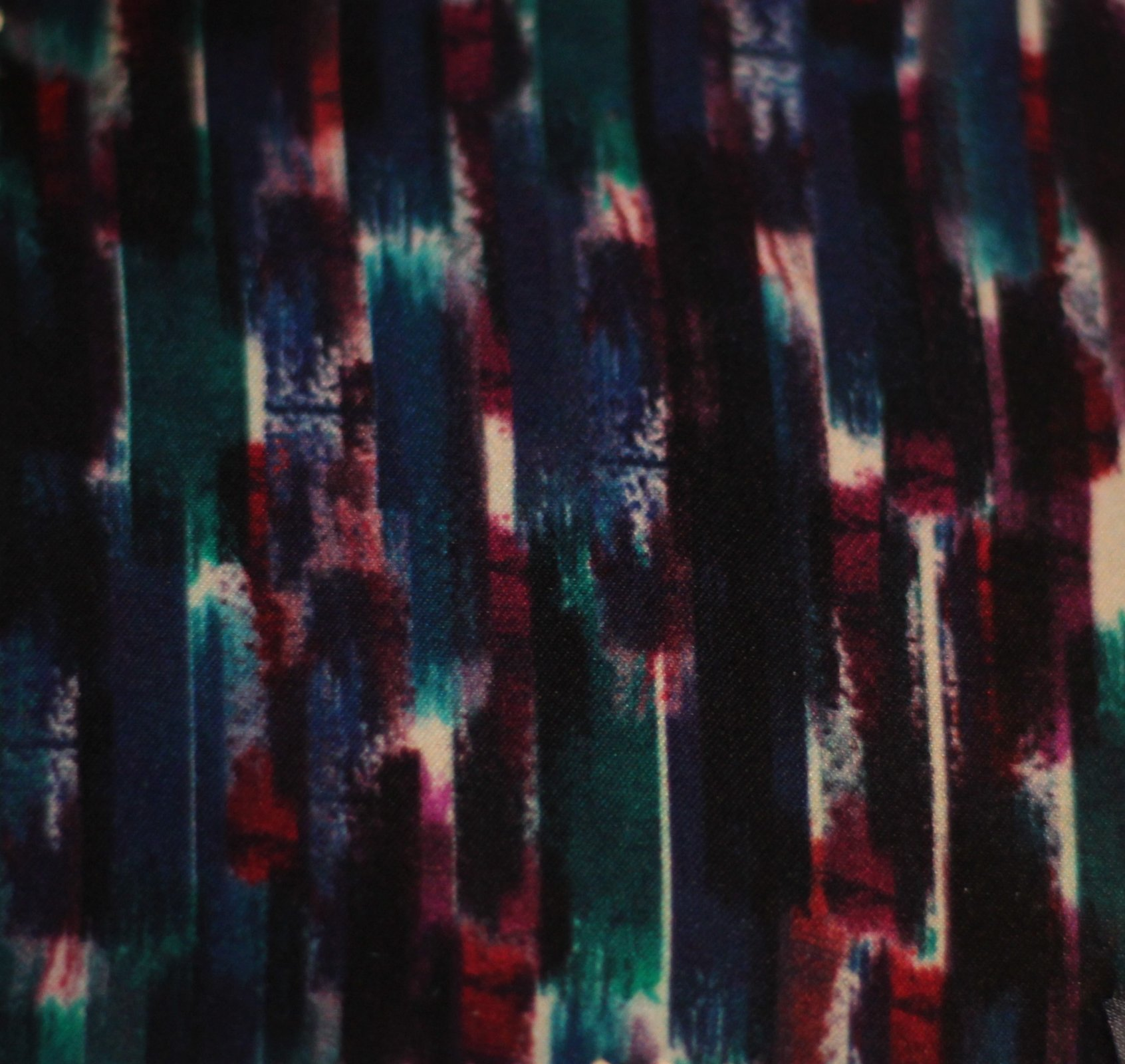 Brushstroke pure silk charmeuse in plums and teals