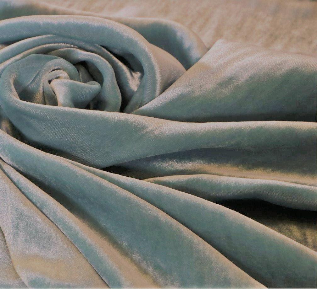 Italian silk velvet, nile green