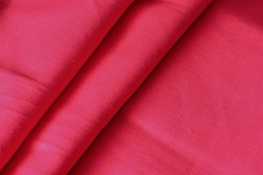 Beautiful red color pure linen
