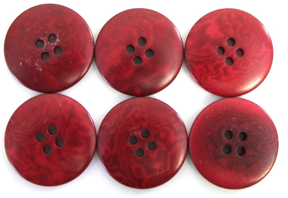 Italian tagua buttons, red