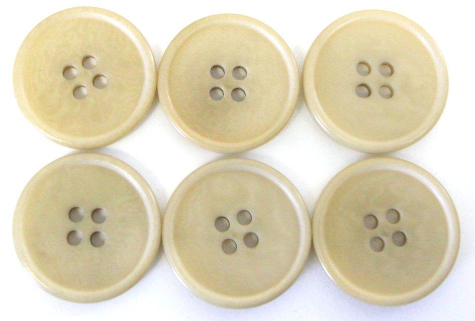 Italian tagua buttons, fawn beige