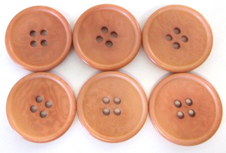 Italian tagua buttons, peach