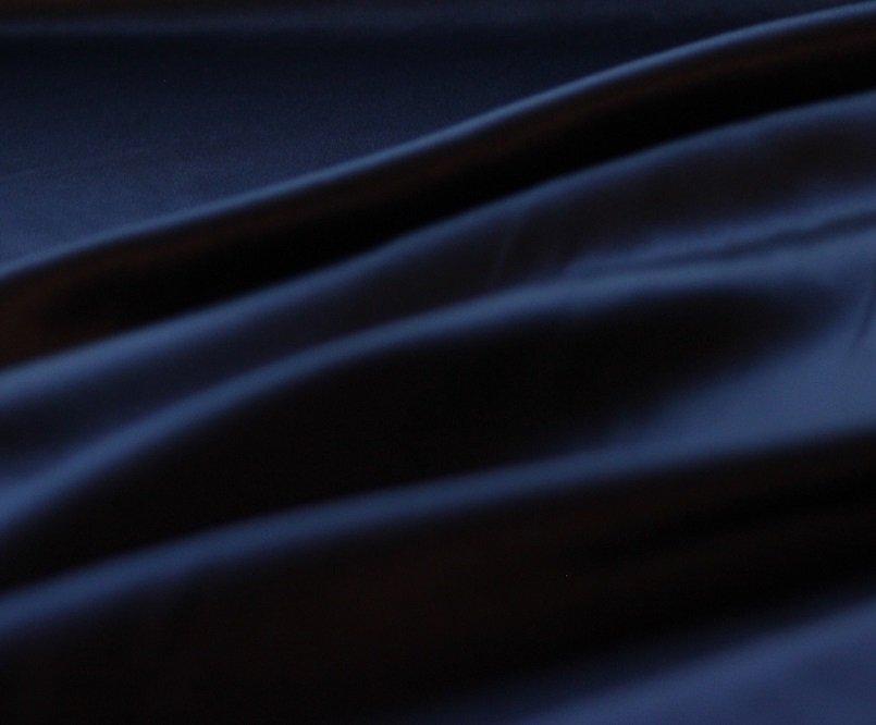 Sapphire navy pure silk charmeuse