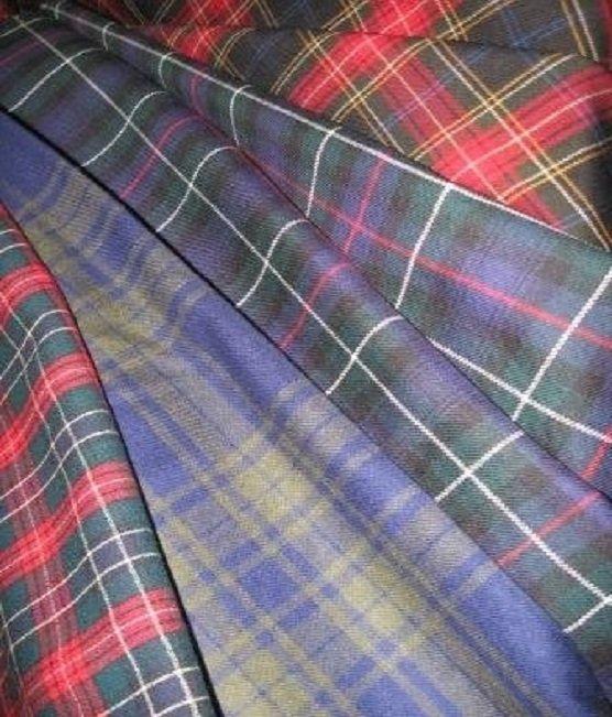 plaid woolen fabrics