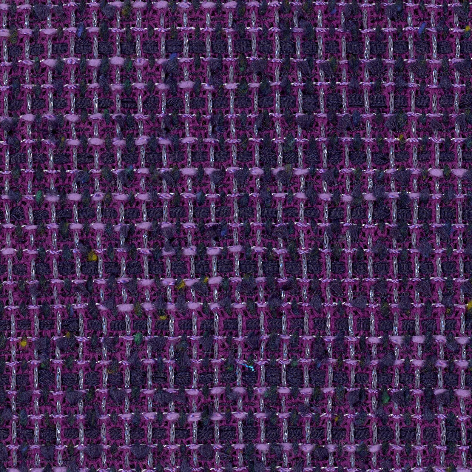 English novelty tweed, navy/purple, Limited yardage