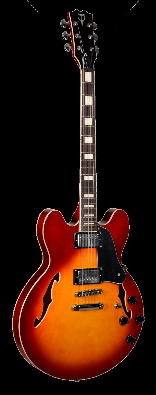 Teton Semi-Hollow Cherry Sunburst Electric Guitar