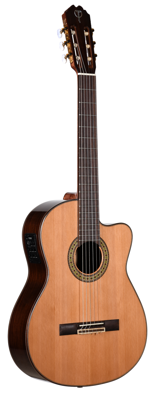 Teton Classical Electric Natural Finish Guitar