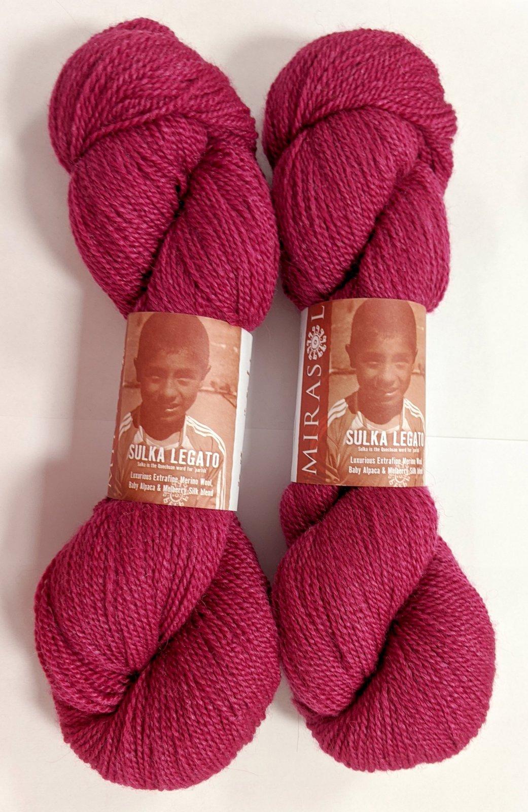 Mirasol Sulka Legato Yarn - #45 Geranium
