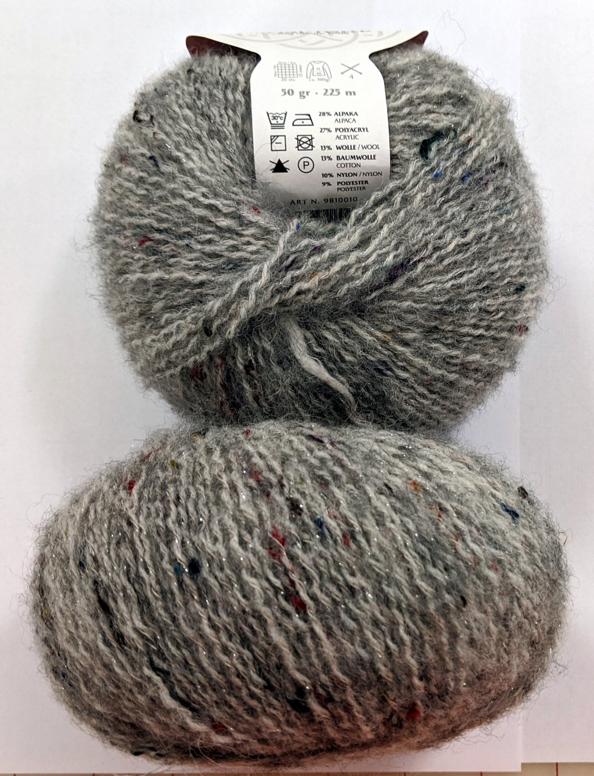 Gedifra Metal Tweed Yarn - Grey #751