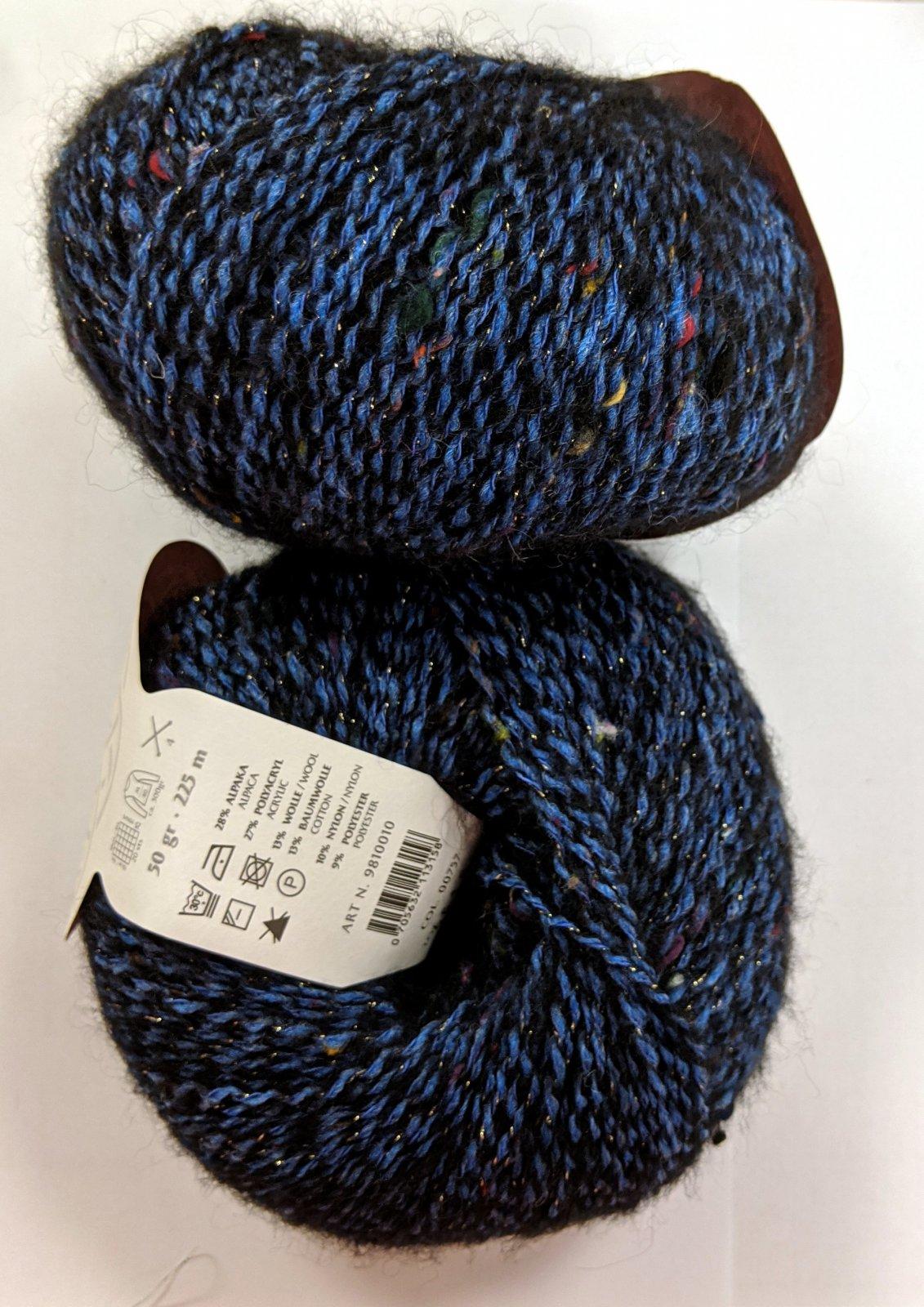 Gedifra Metal Tweed Yarn - Navy #757
