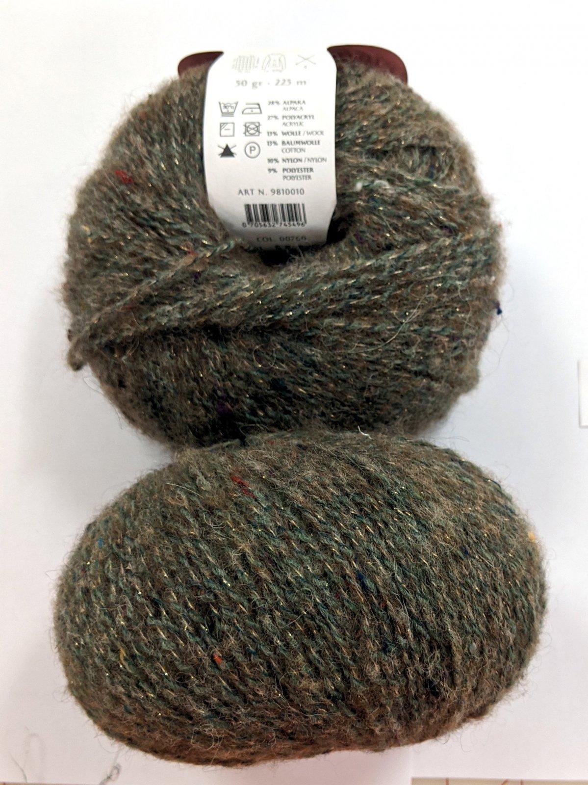 Gedifra Metal Tweed Yarn - Grass #760