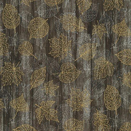 Autumn Beauties - SRKM-19315-16 Brown Leaves