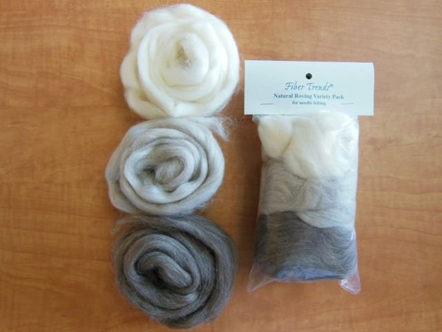 Fiber Trends Natural Roving Variety Pack - 3