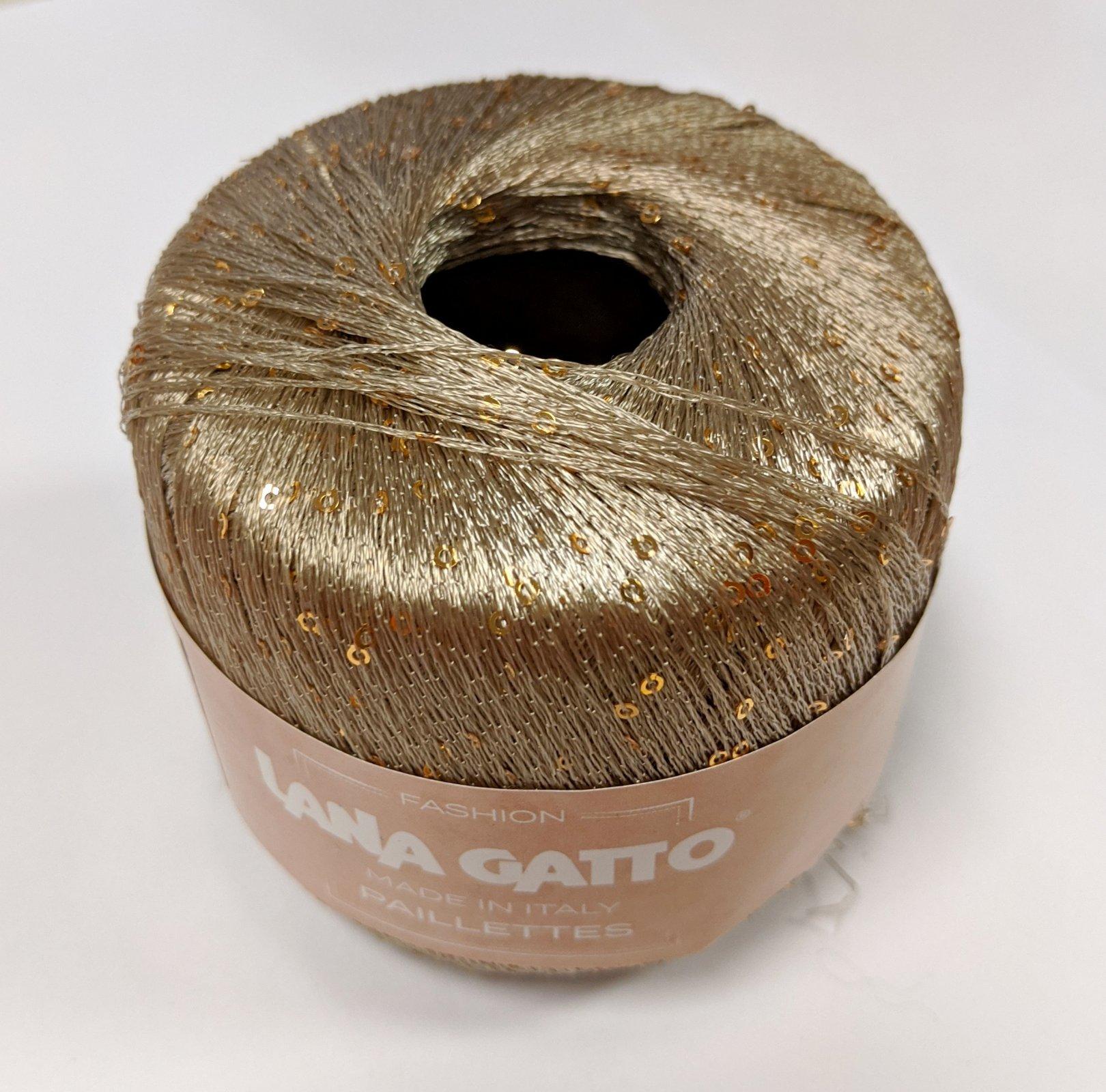 Lana Gatto Paillettes Yarn - Tan #8600
