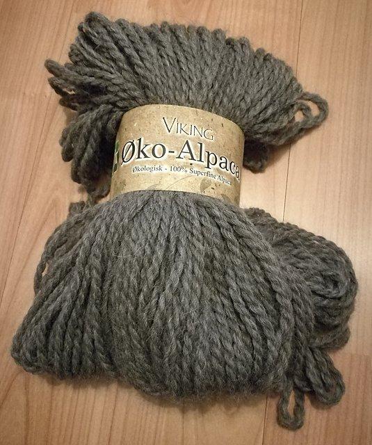 Eco (Oko) Alpaca Yarn - Grey #415