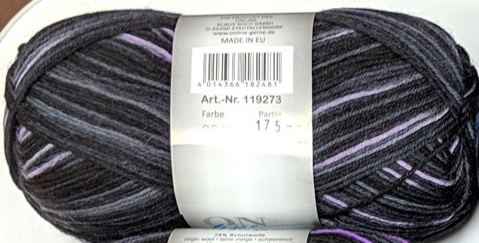 ON Line Supersocke 4-fach Platin Color - #2319 Lavender