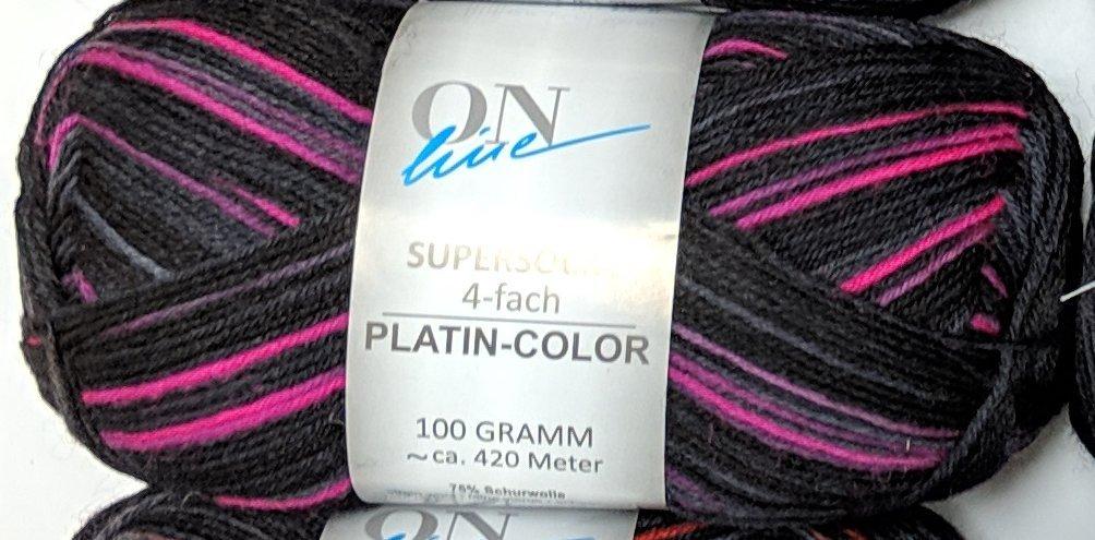 ON Line Supersocke 4-fach Platin Color - #2320 Pink