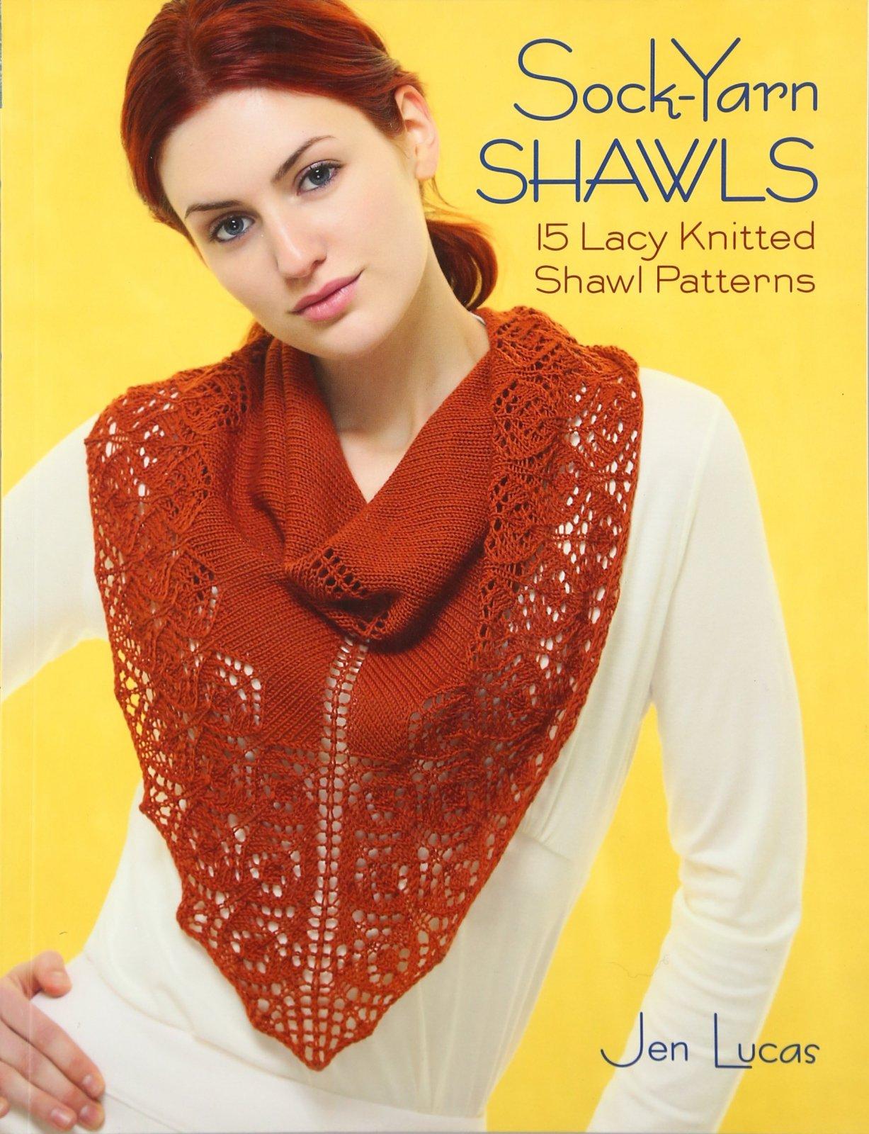 Sock-Yarn Shawls Pattern Book by Jen Lucas