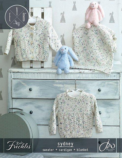 Euro Baby Baby Freckles Sydney (Cardigan, Sweater, & Blanket) Pattern