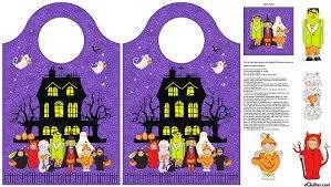 Happy Halloween Trick-or-Treat Bag Panel