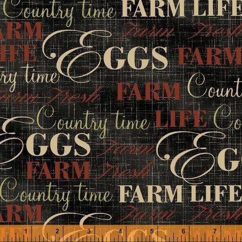 Farm Fresh Words Black